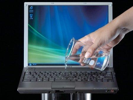 Laptop waterschade